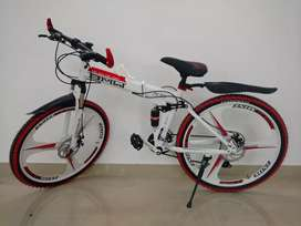 Foldable bicycle with 21 gears
