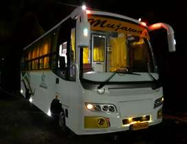 25 Seater AC bus with 2 x 2 pushback seat video coach