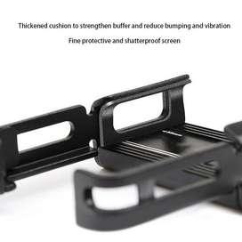 Aluminium Alloy Mobile Holder for Motor Bikes Black Colour