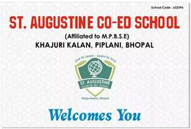 TEACHER REQUIREMENT IN ST.AUGUSTINE CO-ED SCHOOL BHOPAL
