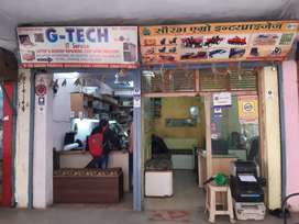 Ground floor Commercial shop 2 shattar partison at Sanjay complex
