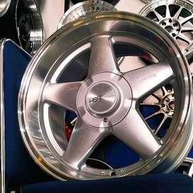 Velg Ertiga model celong ring 16 lebar 8-9 tipe Vest HSR silver