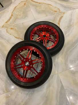 Velg marus w126 red edition include ban mitas