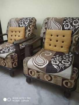 Five seater sofa rose wood brown