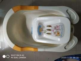 Bath tub and horse chair