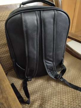 Leather laptop back pack bag new