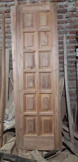 Pintu kamar kayu jati bos