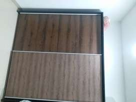 Wardrobes and bed