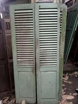 Daun pintu krepyak murah kayu jati
