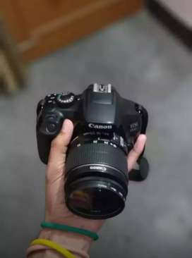 Canon camera 1300D double lens.55-250 urgently cell