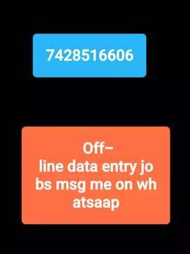 Urgent need 200 mala females for semi_ Private company data entry back