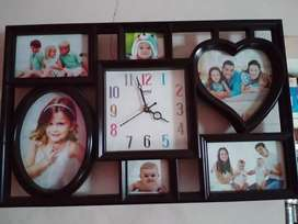 Photo frame with watch