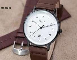 Jam tangan Fossil classic free strap tgl aktif