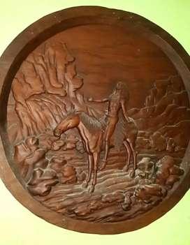 Ukiran Kayu jepara Utuh .kayu lama .Koleksi . NEGO WAJAR