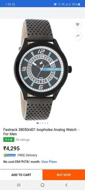 titan watch black