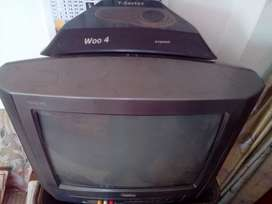 T-Series Vanity Dlx Colour TV with Trolly ( negotiable)