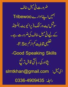 Female staff required in Peshawar Office