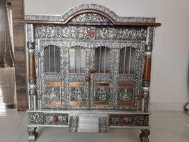 Handcrafted wooden mandir for Home