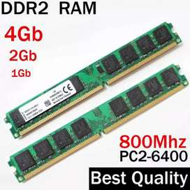 4GB RAM DDR2 | 1GB x. 4  | compatible with core 2 duo & core2 quad etc