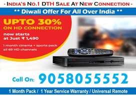 Upto 30% On HD Box- Tata Sky Dishtv Airteltv Tatasky Book Now DTH Box!