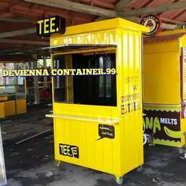 BOOTH CONTAINER , minimalis container custom Container angkringan