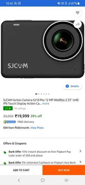 Sjcam 10 pro new box pack