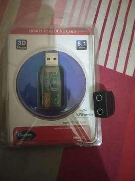 Quantum 3D sound 5.1 sound card NEW