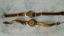 Very rare vintage swiss gold filled wrist watches