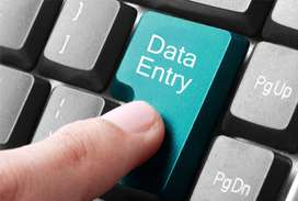 Call now for data entry manual typing work available