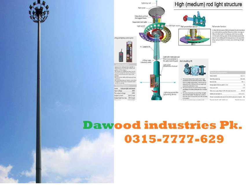 High Mast Pole with Canopy LED Light available in  different Design 0