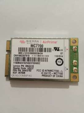 Laptop 4G wireless MC7700 network card sim