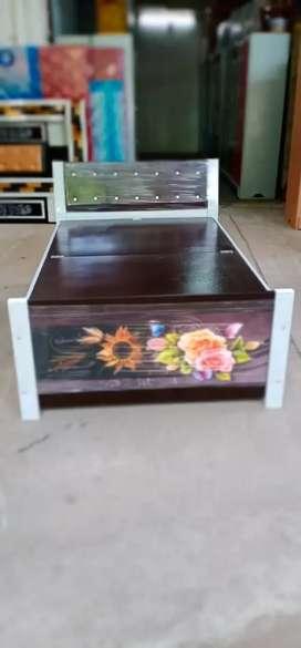 M. S steel box bed