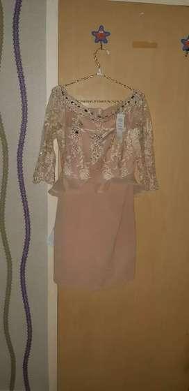 Dress brokat semi kebaya