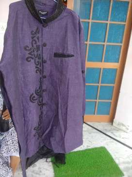 Purple and black color new Sherwani. Size 48