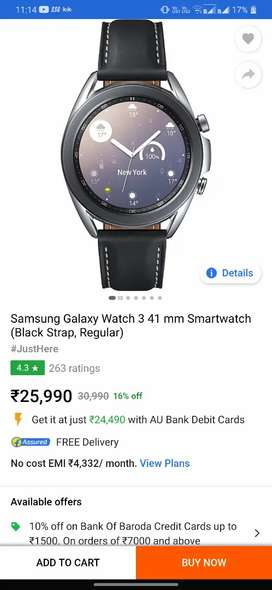 Samsung Watch 3 41 MM seal packed