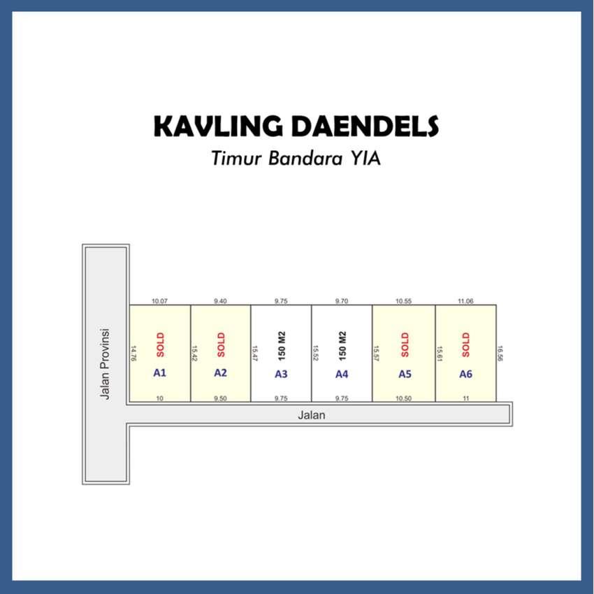 Dekat Jl. Daendels, Luasan Ideal Akses Mudah: Cicil 12x