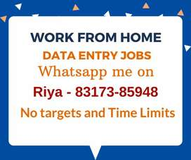 Jobs for everyone. Data entry jobs. Earn daily Rs.1300/-