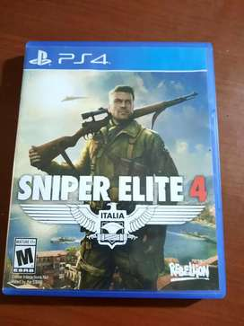 Sniper elite 4 ps4 murah asli ori kaset mulus terawat
