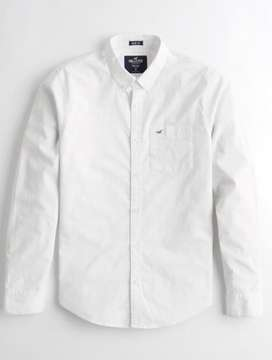 Original Hollister Men's Medium Stretch Poplin Slim Fit Shirt UK