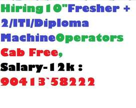 "Derabassi Limited Co Hiring""Fresher 10th/ +2/ITI/Machine Operators"