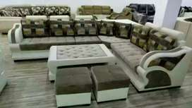0 EMI from bajaj finance 9 seat sofa with center table