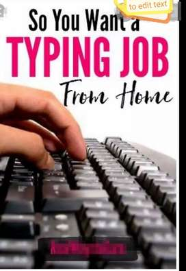 New hirings for data typing or entry at home based