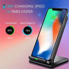 Fast Wireless Charger Qi Charger 10W Two Coils Wireless Fast Charger