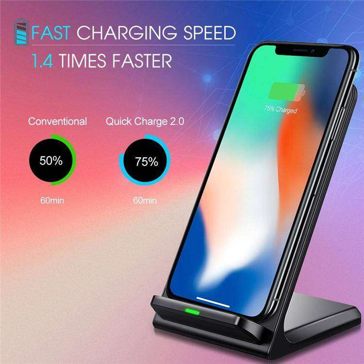 Fast Wireless Charger Qi Charger 10W Two Coils Wireless Fast Charger 0