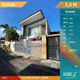Dijual rumah semi villa konsep minimalis modern di Sanur Bali