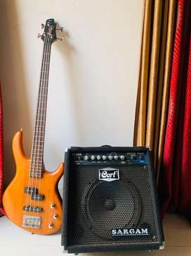 Cort Action Electric Bass Guitar combo with 30 Watts Amplifier