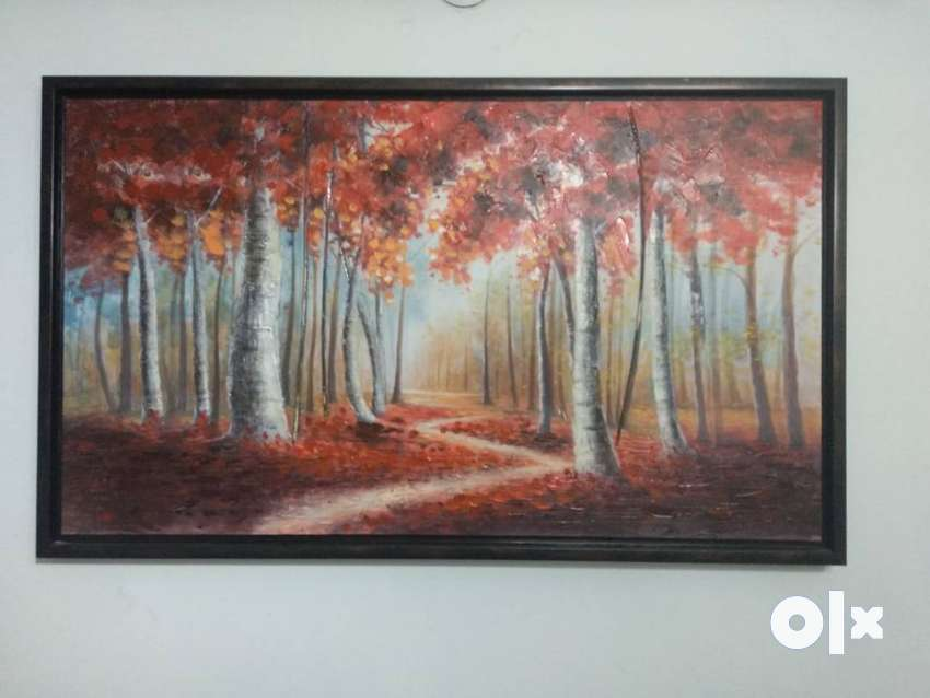 Canvas Painting Acrylic Hometown 0