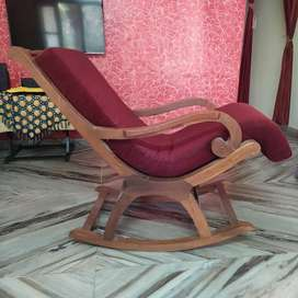 Rocking chair teak wood