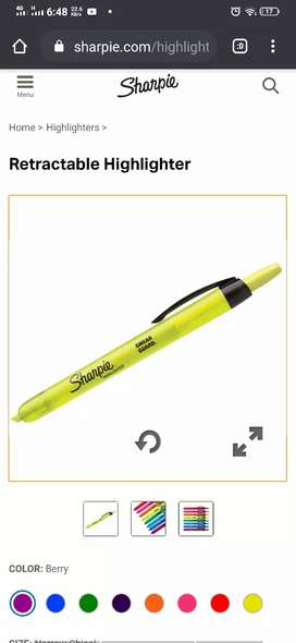 Sharpie pen marker highlighter usa brand