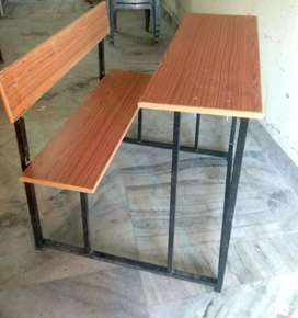 Attached table & chair set , 10 set @2000
